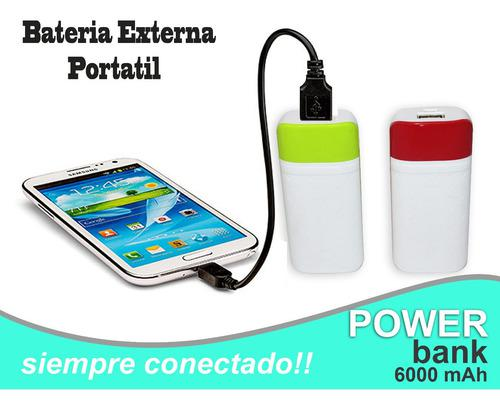 Power Bank Bateria Externa Portatil 6000 Mah + Regalo