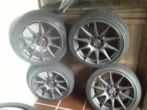 Rines Llantas 17 Pul Momo Para Honda Mazda Toyota 4 Huecos