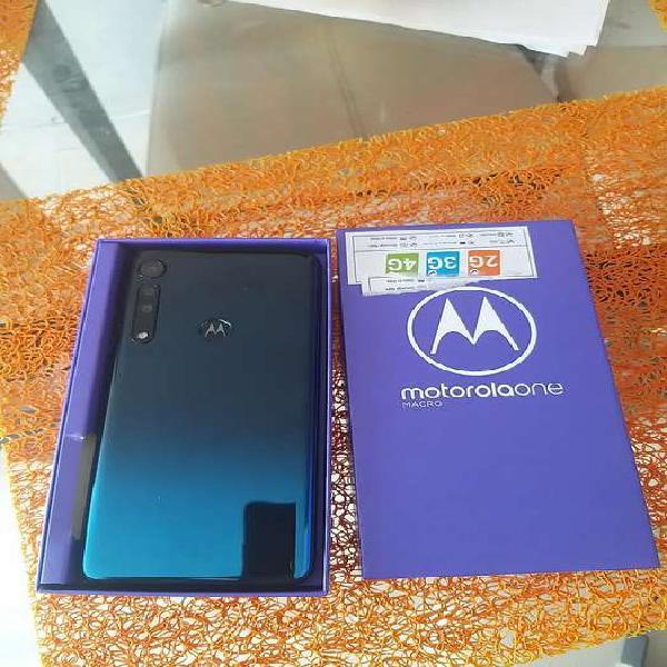 Vendo Motorola one macro 4gb ram y 64 interna nuevo