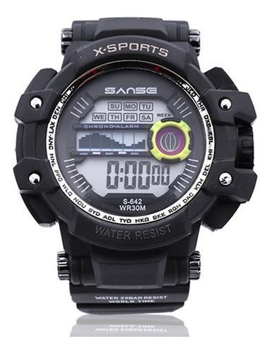 Reloj Led Sanse X Sports Digital 7 Luces Sumergible Crono