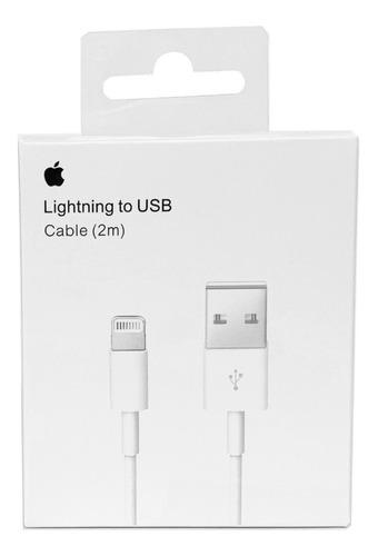 Cable De 2 Metros Para iPhone 5 6 7 8 X Xr Xs Max Original