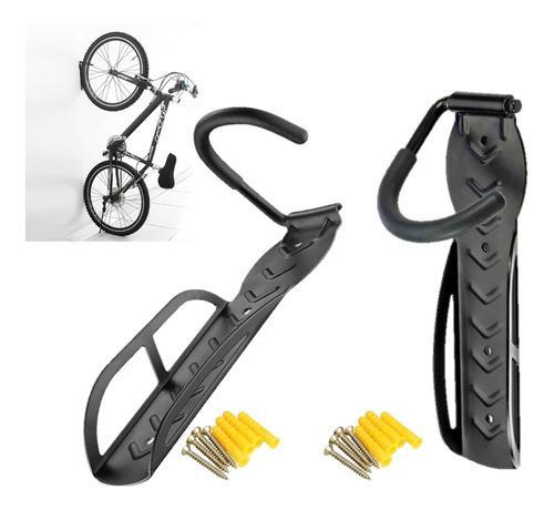 2 X Soporte Pared Para Bicicleta +chazos+tornillo 9001-negro