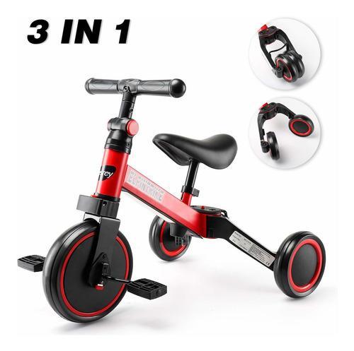 3 En 1 Triciclo Para Niños Caminador De 3 Ruedas Para B...