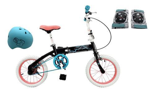 Como Bicicleta Plegable Bia De Disney Con Protecciones
