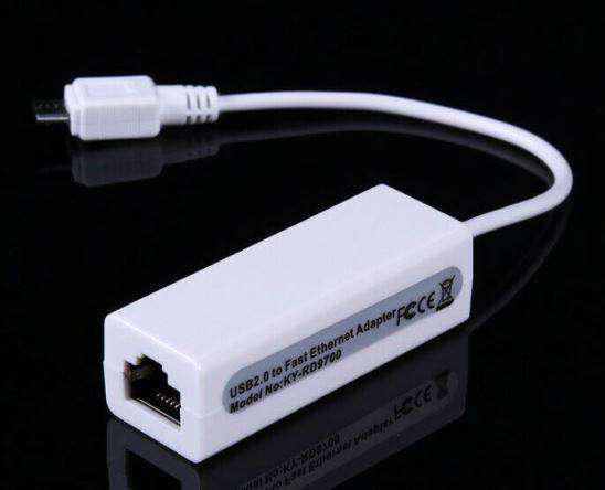 Micro Usb 2.0 A Fast Ethernet 10/100 Red Rj45 Adaptador Lan