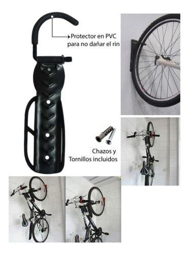 Soporte Pared Para Bicicleta +chazos+tornillo-negro Ref 9001