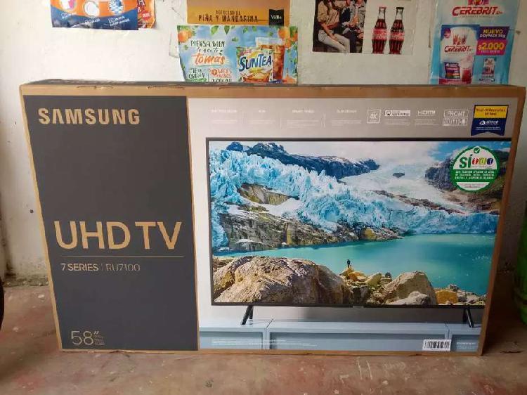 TV Samsung 7 Series de 58 Pulgadas UHD 4K Nuevo de paquete.