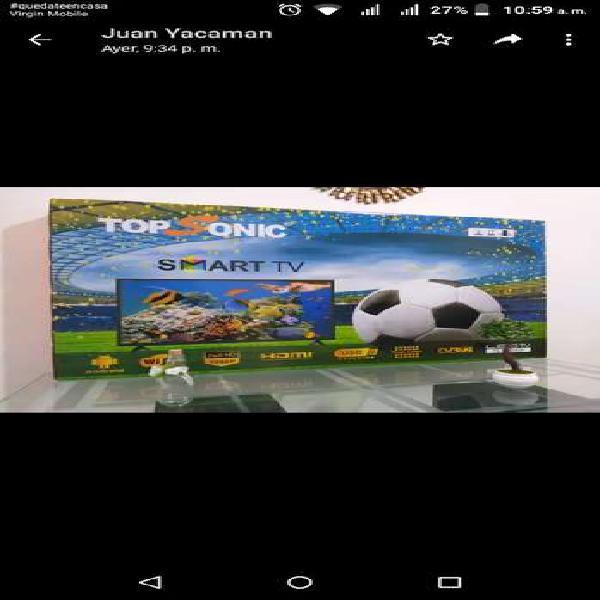 Televisor de 40 pulgadas marca Topsonic Smart TV