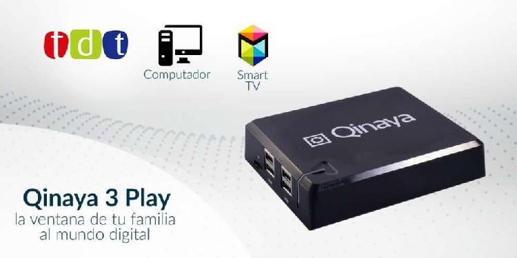 Smart Tv Box + Decodificador Tdt Qinaya