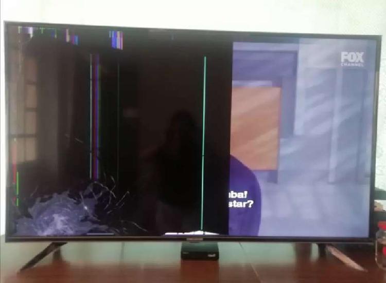 Tv challenger de 55 pulgadas pantalla rota