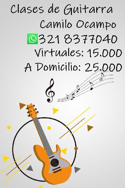 Clases de Guitarra a Domicilio o Virtuales