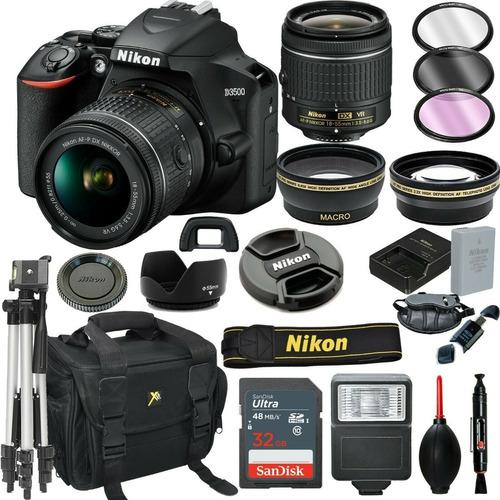 Cámara Réflex Digital Nikon D3500 Negra + Lente Vr De