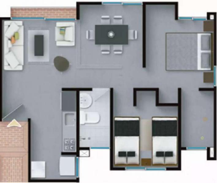 Vendo apartamento segundo piso para estrenar en el barrio
