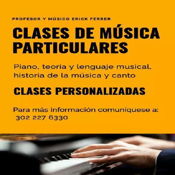 Clases particulares de música (presencial y virtual)