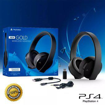 Diadema Auriculares Ps4 Ps3 New Gold Wireless Stereo Headset