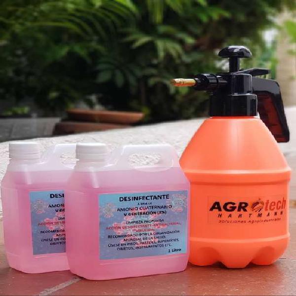 Combo Fumigadora 1,5 Litros + Desinfectante Amonio