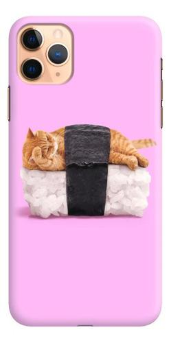 Carcasa Para Celular Gato En Sushi - Phonetify