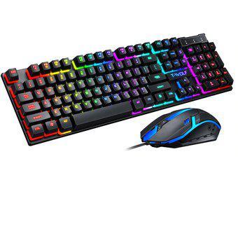 Combo Teclado y Mouse Gamer con Luces