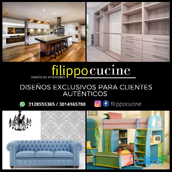 Diseños y fabricación de cocinas, Clósets y Muebles en