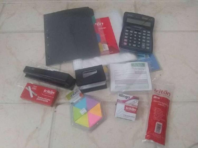 Kit de Papelería/Oficina/Universidad/Colegio/Hogar