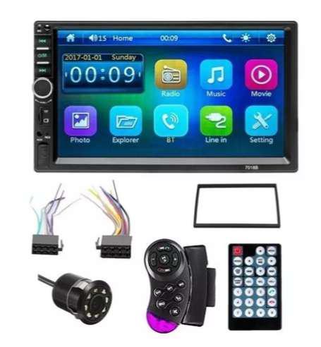 Radio Pantalla Carro + Camara Tactil Bluetooth Mirror Link