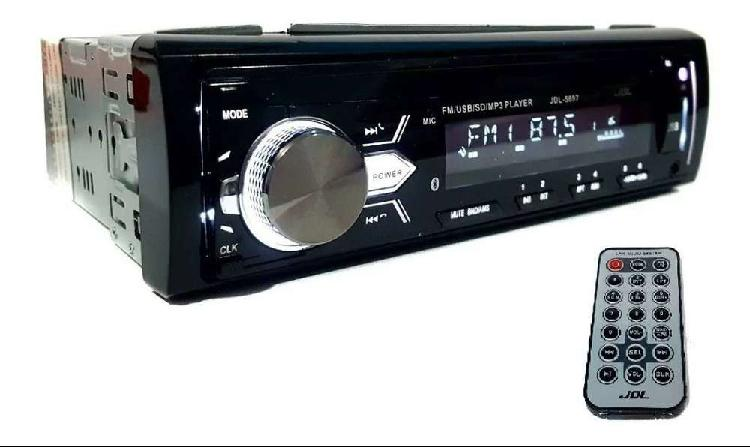 Radio Para Carro Bluetooth Usb Sd Jdl-5697 Panel Desmontable