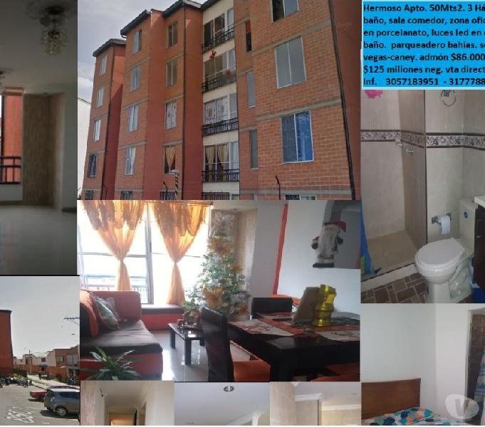 Venta de Apartamento en las vegas de comfandi sector Caney-
