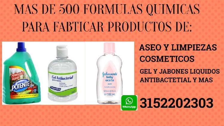Manual de formulas quimicas productos de aseo y limpieza
