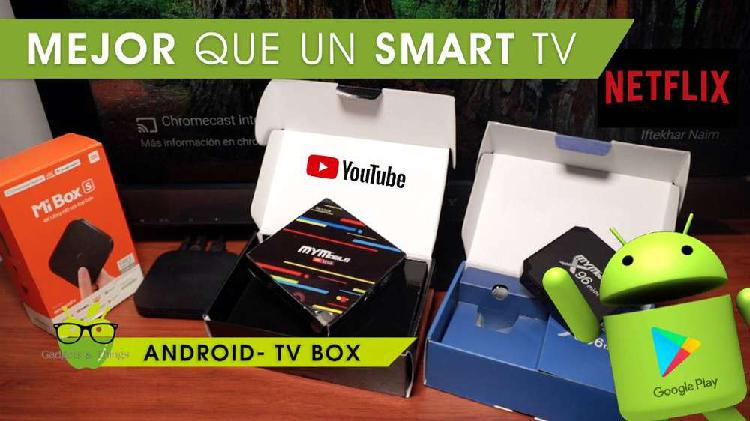Convierte tu Tv en Smart Tv con una Android Tv box