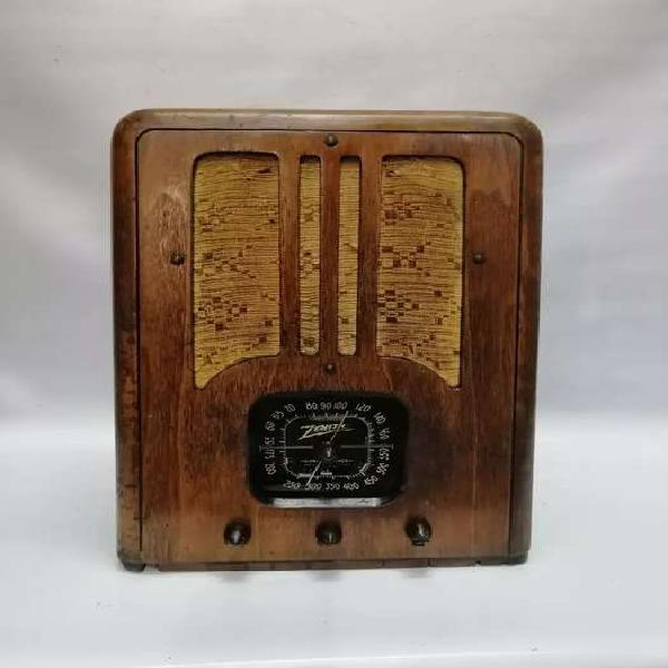 RADIO ANTIGUO ZENITH 1930 USA FUNCIONAL MUEBLE CEDRO DE