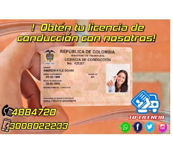 Licencia de conducción curso de carro pase de moto y carro