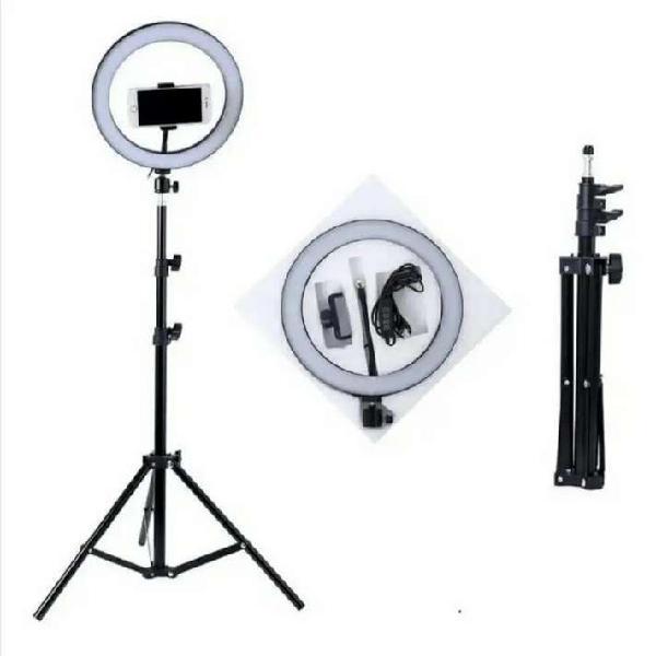 Anillo o Aro De Luz LED 26 cm Soporte Para Celular +