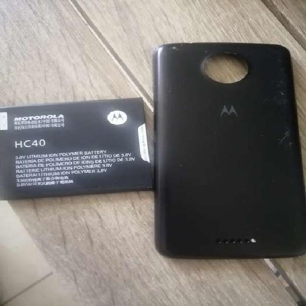 Bateria original y tapa trasera para Moto C