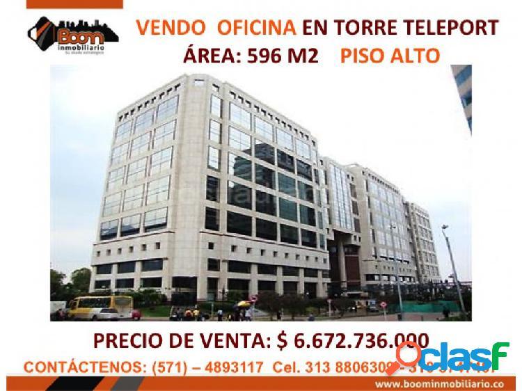 *VENDO OFICINA TELEPORT 596 M2