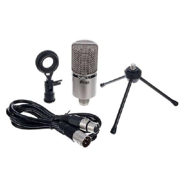 Micrófono de condensador Irig Studio XLR Con base de