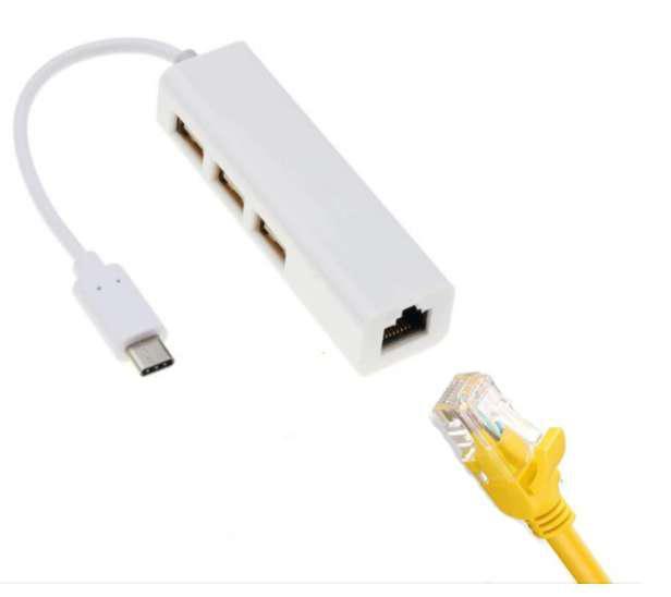 Type-C To Gigabit Ethernet RJ45 LAN Network Card Adapter USB
