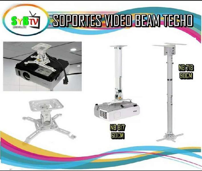 Soportes para video beam de techo y de muro