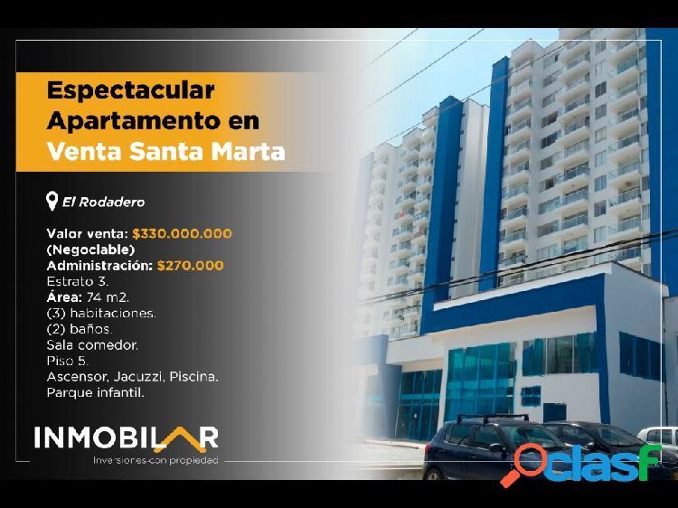 Espectacular Apartamento en Venta Santa Marta