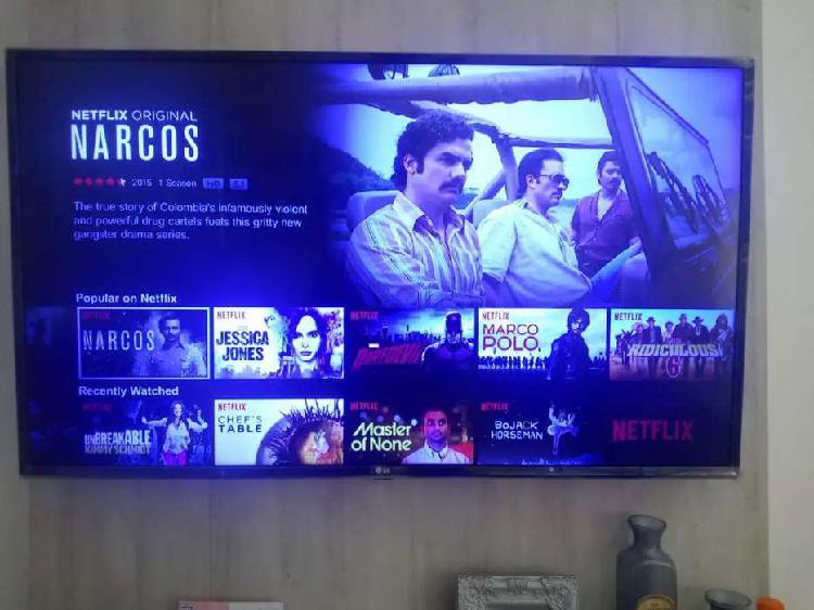 """Lg smart tv de 43"""" como nuevo en su caja"""