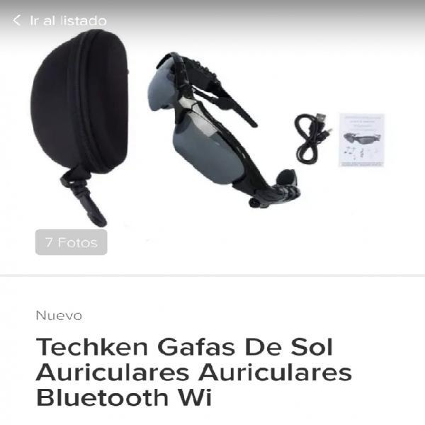 Vendo Gafas deportivas con Bluetooth Incorporado